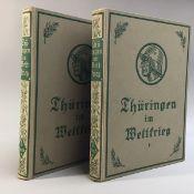 """""""Thüringen im Weltkrieg"""", I.u.II.Bd., Verlag d. Literaturwerke """" Minerva"""" Lippold Lpz., 1921, in"""