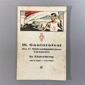 """Festschrift zum """"16.Gauturnfest des 17. Südvogtl. Turngaues in Elsterberg i.V. am 6.u.7.Juli 1929 """","""