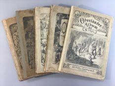 Adolf Oberländer-Album, 5 Stück, Teil 4, 8, 9, 11, 12, Verl. Braun u. Schneider München,