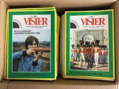 """""""Visier"""" Zeitschr. d. Gesellsch. f. Sport u. Technik, alle monatl. Ausg. der DDR 1/1975-6/1990,"""