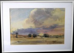 """Gustav Dahler (1906-1977) Aquarell """"Mediterrane Landschaft"""", sign. """"G. Dahler"""""""