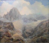 "Augusto Tommasini, Italien 19./20.Jh. ""Dolomiten"" sig., Öl/Leinwand, 65 x 75 cm, m.R."