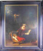 """Kopie nach Rembrandt von 1887, """"Die Heilige Familie mit den Engeln"""" Öl/Leinw., 140 x 118 cm m.R."""