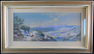 "Ch.E. Rowbotham, engl. *1856-1921, ""Rast am Bergsee"" , sig. u. dat. 1902, 40,5 x 70,5 cm, m.R."