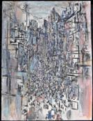 "Otto Schliwinski, *1928, bez. ""Kobe"" Mischtechnik a. Papier, sig. u. re. u. dat. (19)82., 40 x 30 cm"