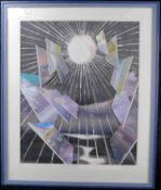 Manfred Seils, Wittener Künstler 20./21.Jh., Collage Acryl a. Papier, sig. u. dat. (19)94