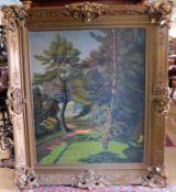 "Kurt Mücke, *1885-1940 ""Waldlandschaft"" sig. u. dat. 1929, 145 x 125 cm m. R."
