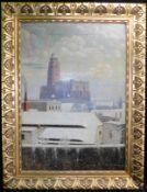 "Th. Nocon, Poln. Maler 19./20. Jh., ""St.Johannis Kirche in Patschkau"", Öl/Leinw., sig., 57 x 81 cm,"