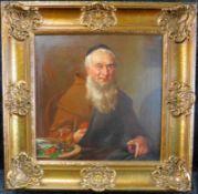 """Kopist um 1900 """"Mönch bei der Vesper"""" nach E. Nowak, Öl/Leinw., 41 x 40,5 cm, m.R."""