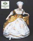 """Figurine """"Empiretänzerin in Hofknickspose"""", ROSENTHAL Croup, 20. Jahrhundert. Nach einem Entwurf"""