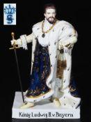König Ludwig II. von Bayern. SITZENDORFER Porzellanmanufaktur/Thüringen. Modellnummer 2428/0. P