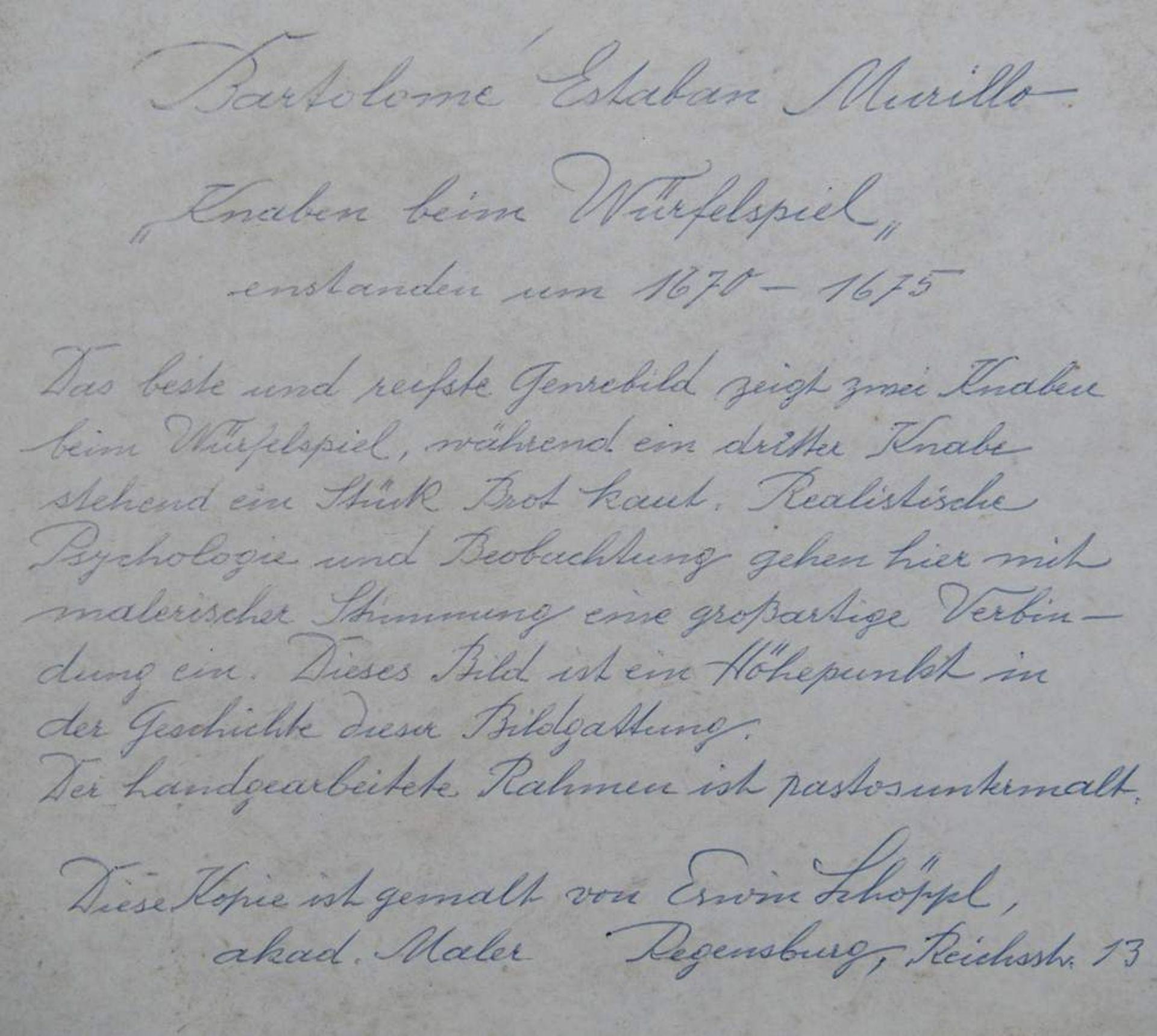 """SCHÖPPL, Erwin; akademischer Maler, Regensburg, erstes Viertel 20. Jahrhundert. """"Knaben beim Wür - Image 5 of 6"""