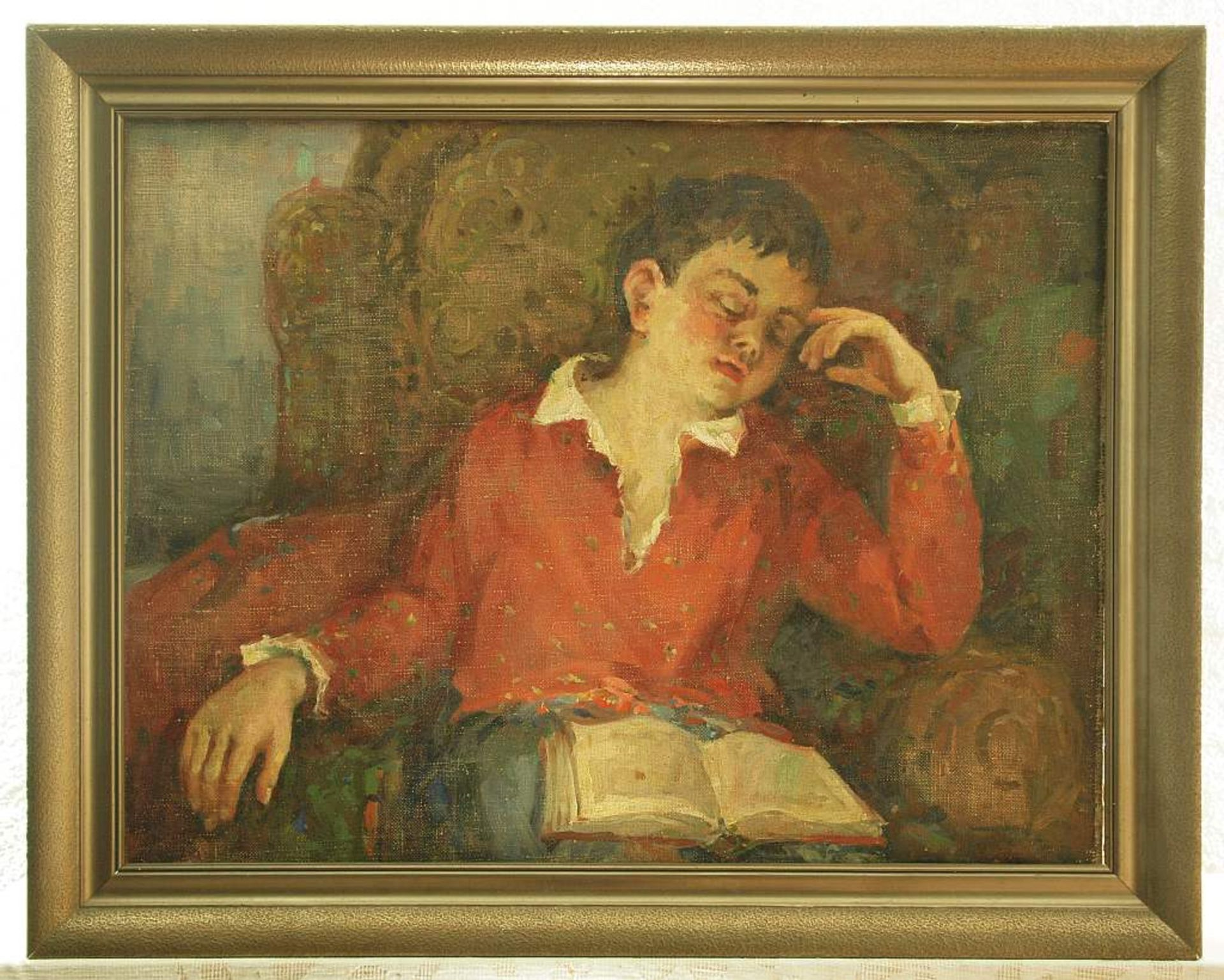MORAVOV, Alexander Victorovich. 1878 Kiew - 1951 Moskau. Schlafender Junge im Sessel, ein aufgesch - Image 3 of 5