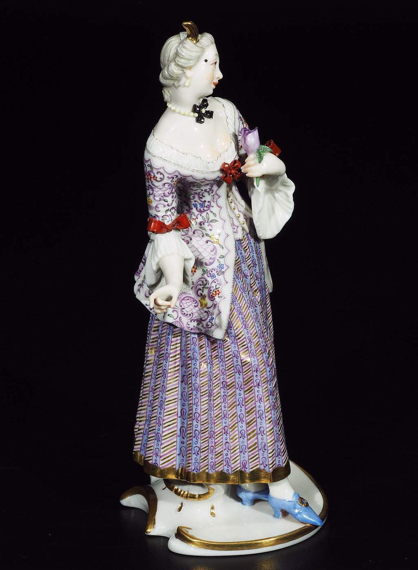 LUCINDA, Figurine der Commedia dell'Arte, NYMPHENBURG, Jahrhundert. - Image 6 of 8