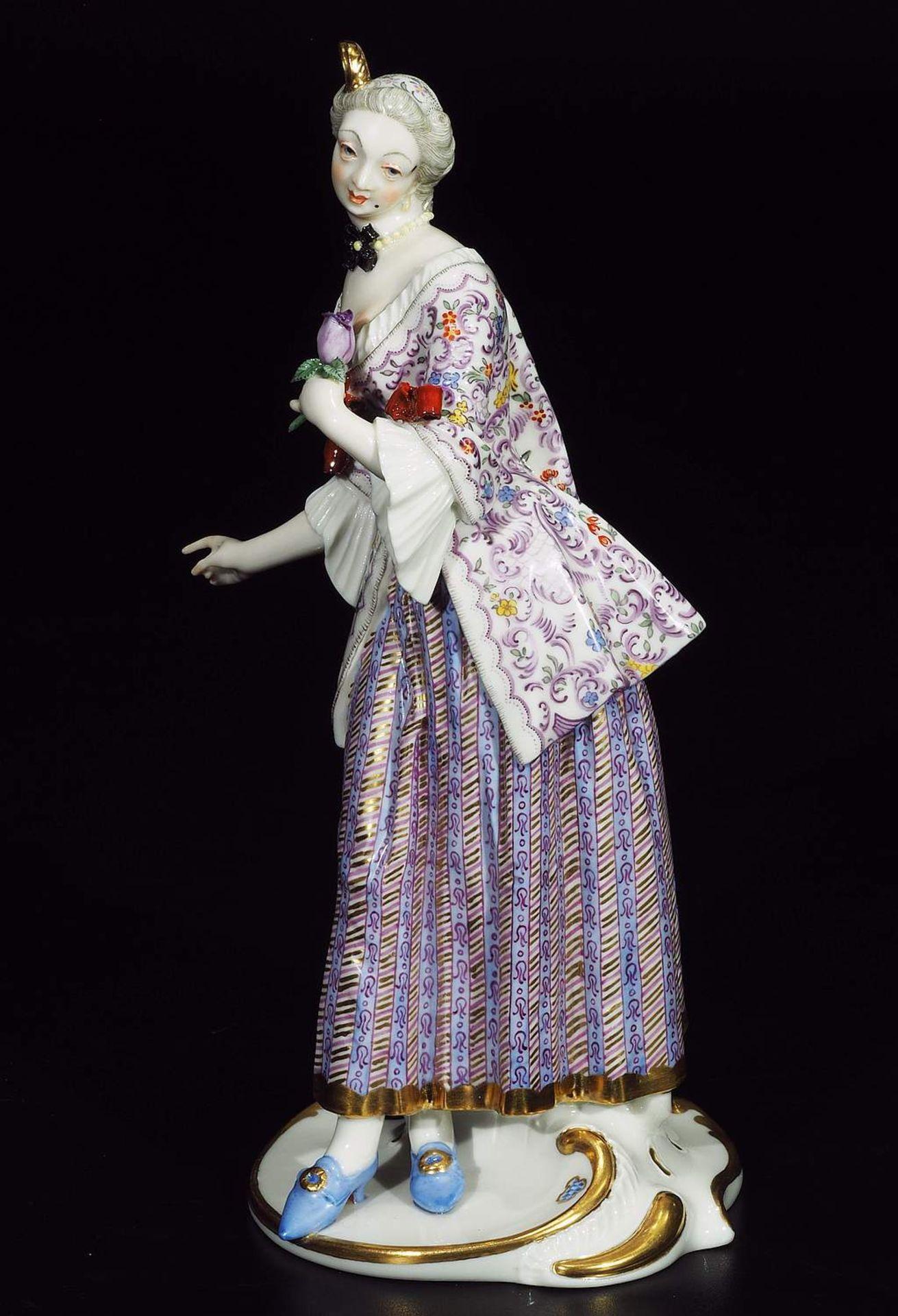 LUCINDA, Figurine der Commedia dell'Arte, NYMPHENBURG, Jahrhundert. - Image 3 of 8