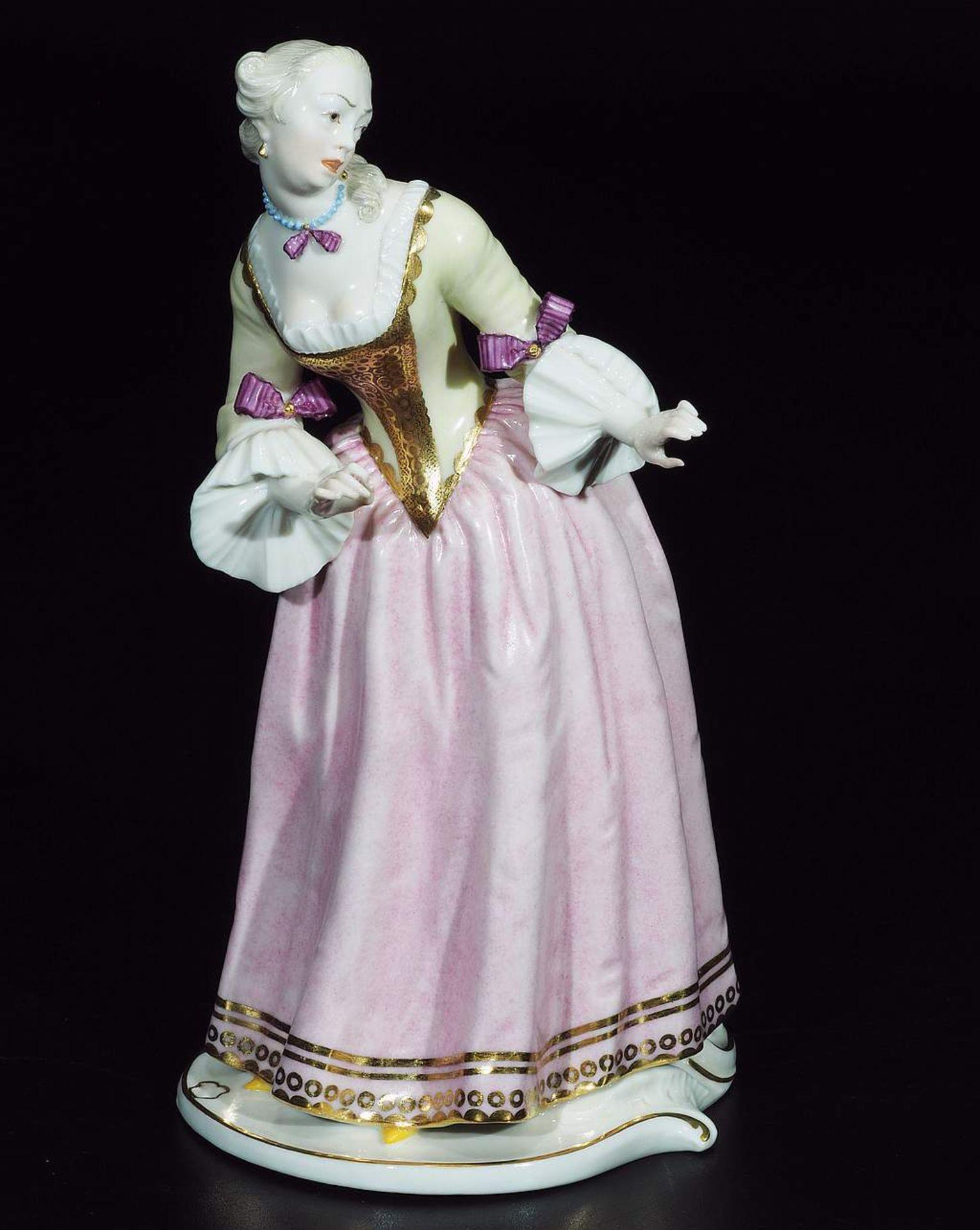 """Kommödiantenfigur """"Isabella"""", NYMPHENBURG, 20. Jahrhundert. - Image 2 of 7"""