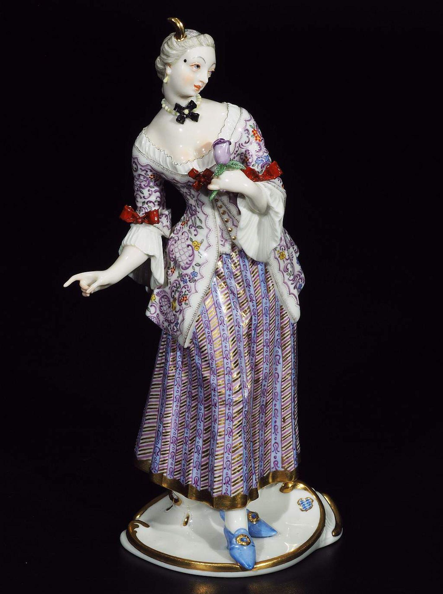LUCINDA, Figurine der Commedia dell'Arte, NYMPHENBURG, Jahrhundert. - Image 2 of 8