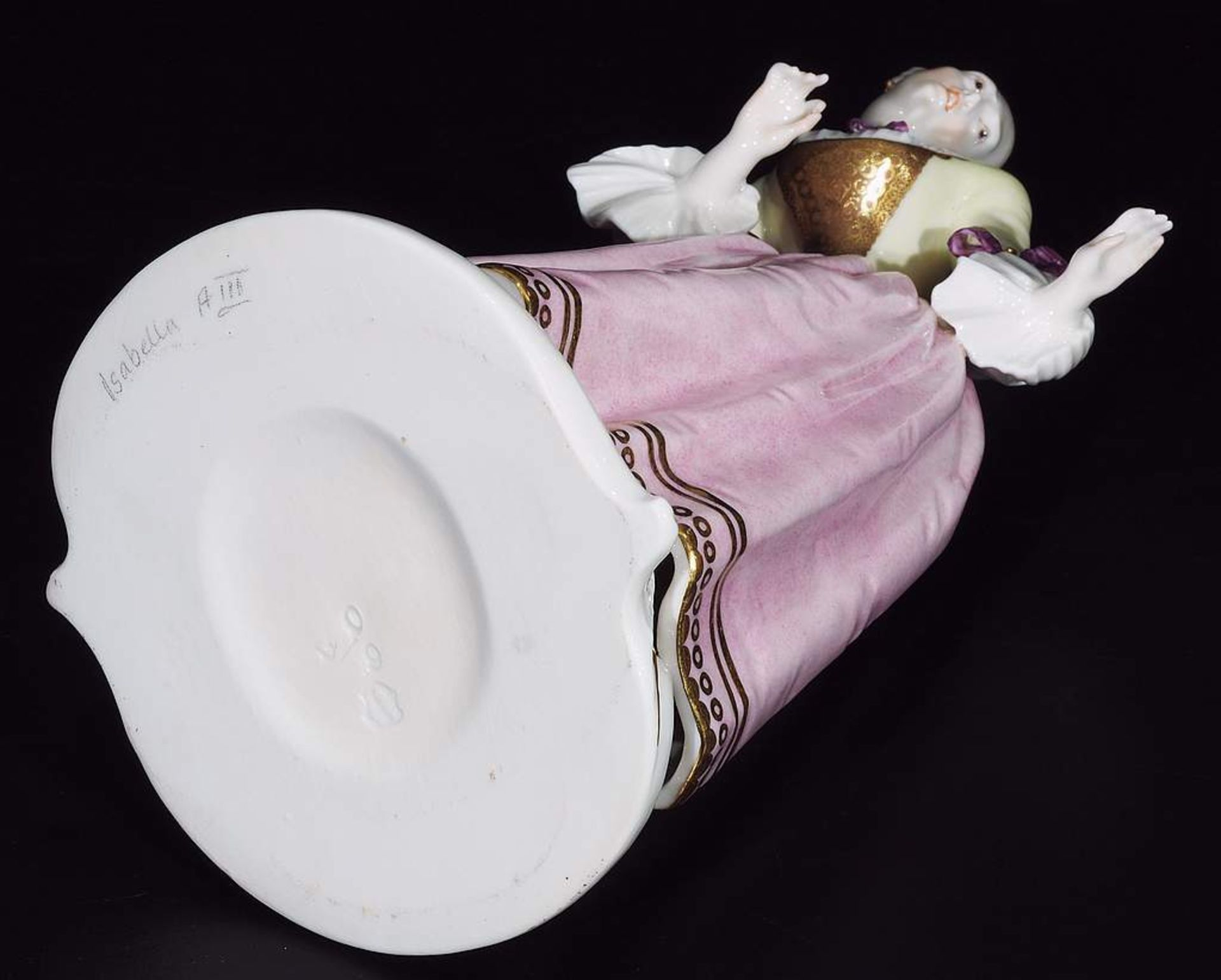 """Kommödiantenfigur """"Isabella"""", NYMPHENBURG, 20. Jahrhundert. - Image 6 of 7"""