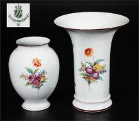 Zwei Vasen, NYMPHENBURG, Marke 1976 - 1997.