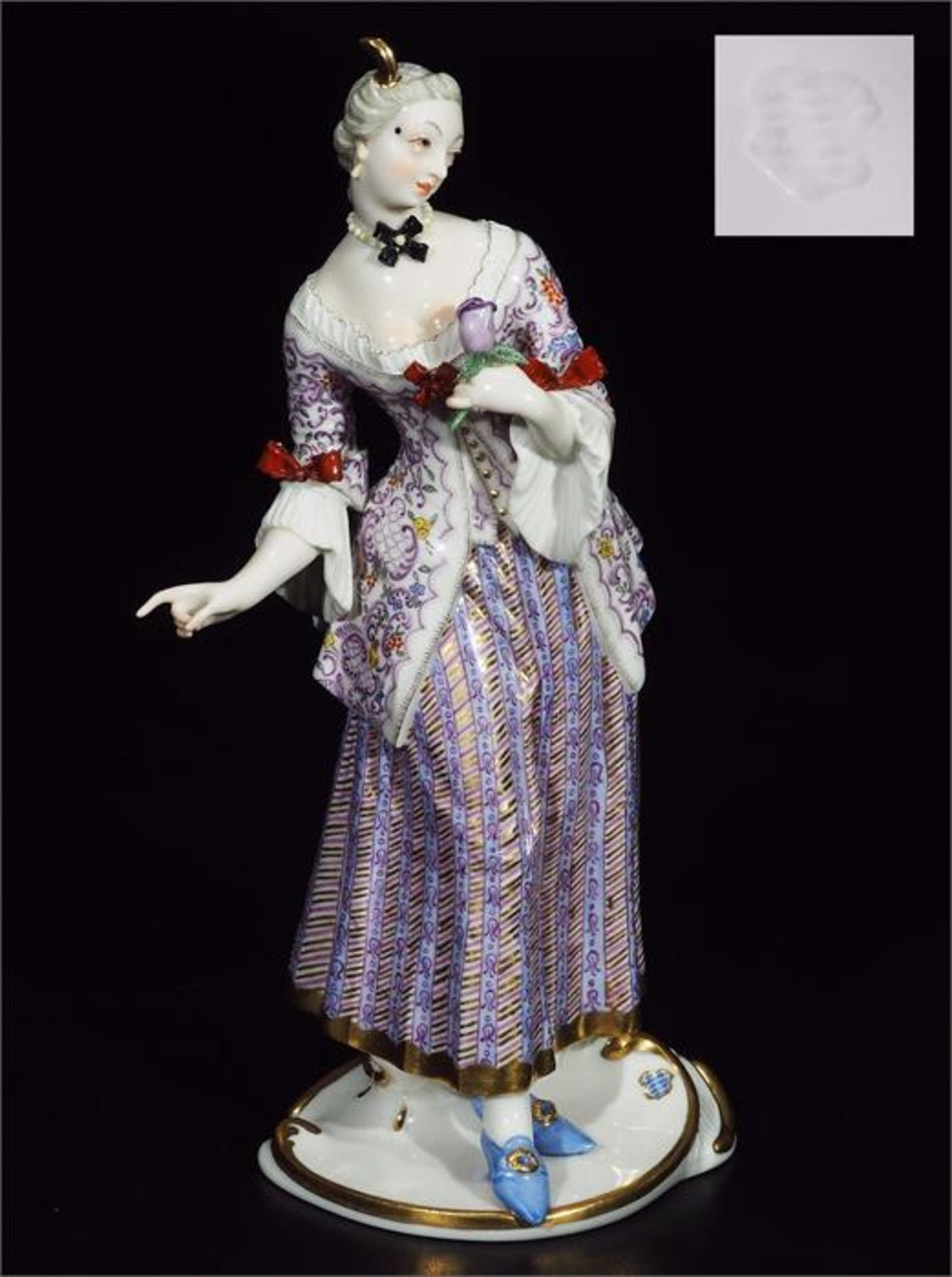 LUCINDA, Figurine der Commedia dell'Arte, NYMPHENBURG, Jahrhundert.