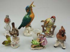 1 Konv. Porzellanfiguren versch. Marken UNTERWEISSBACHER WERKSTÄTTEN, GOEBEL, TETTAU u.a.<b