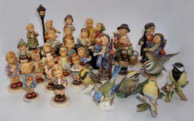 1 Konv. Porzellanfiguren GOEBEL v.a. Hummelfiguren, 2. Hälfte 20. Jh.:z.T. Figuren vo