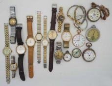 1 Konv. Armband-/ Taschenuhren GG 14ct. Metall u.a. versch. Hersteller z.T. um 1900/ 1