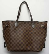 1 Damenhandtasche LOUIS VUITTON Neverfull MM Damier mit orig. Kassenbeleg, gekauft 201