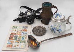 1 Konv. Bierkrüge Porzellan mit Zinndeckel BERLIN DESIGN, ROYAL TETTAU versch. Motive