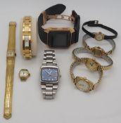 1 Konv. Armbanduhren für Damen und Herren: GUCCI, CERRUTI u.a. Stahl u.a., z.T. vergo