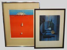 1 Sammlung Graphiken verschiedener moderner Künstler: u.a. wohl: Barbara FÜRSTENHÖF