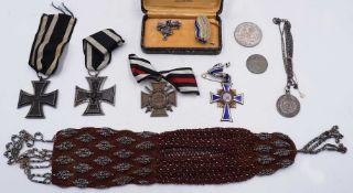 """1 Konv. Orden 1./2. WK """"Eisernes Kreuz 1813/1914"""", """"Ehrenkreuz des Weltkrieges"""", """"Mutt"""