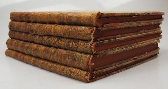 """5 Folianten """"Tableaux de la Suisse (...)"""": Bände 1-5 Paris 1780er Jahre Einband z.T."""