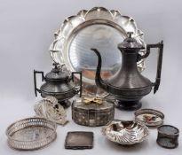 1 Konv. Metallobjekte versilbert versch. Marken u.a.: VALENTI, Wm ROGERS & SONS, HERM. KONEJUNG<