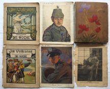 """1 Postkartenalbum mit Inhalt, um 1900/1910 versch. Motive: """"Bayerische Landschaften"""","""