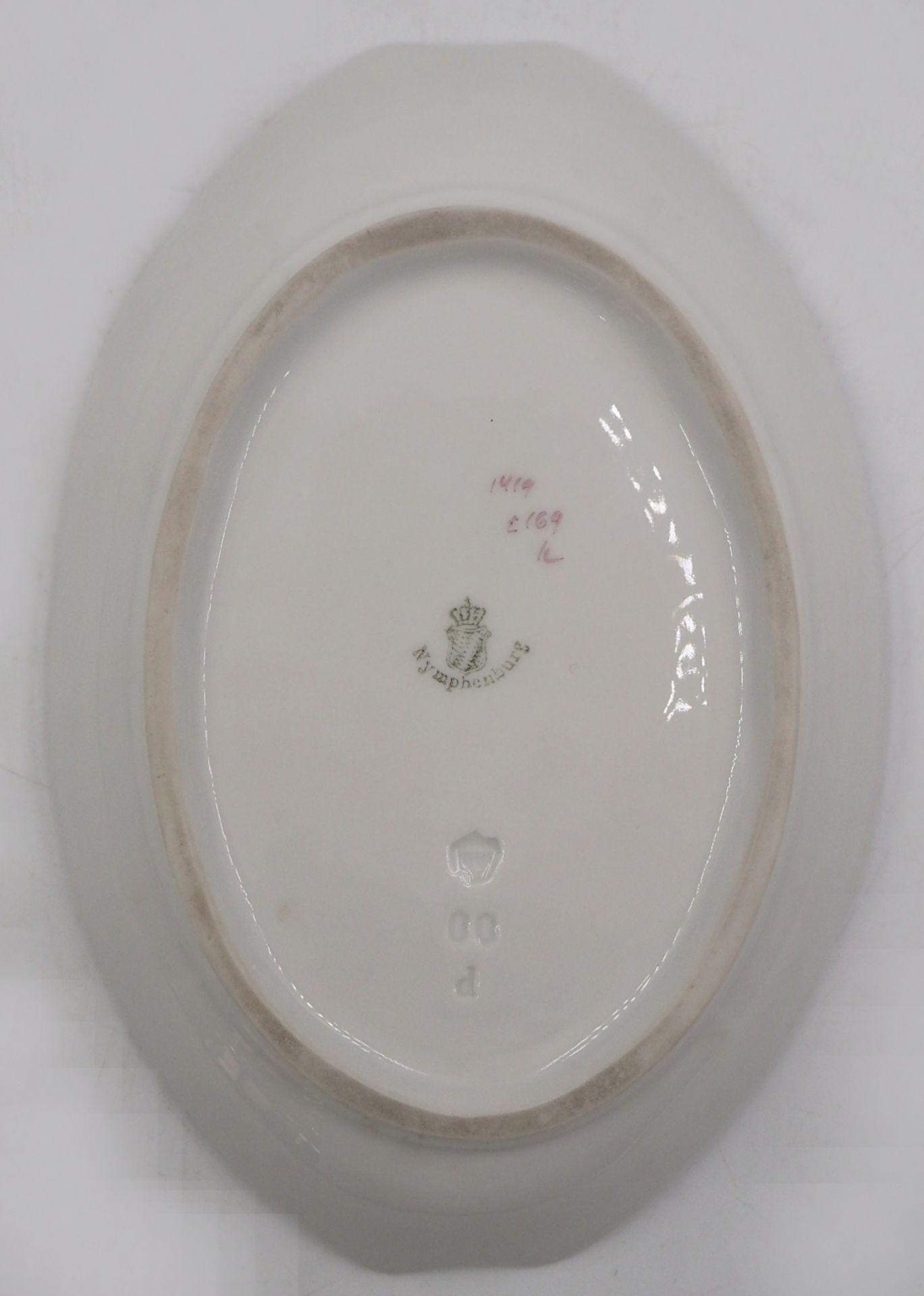 1 Gebäckschälchen Porzellan NYMPHENBURG violetter Blumendekor, Unterglasur-/Pressmar - Bild 2 aus 2