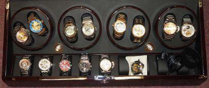 1 Konv. Armbanduhren versch. Hersteller Edelstahl, z.T. vergoldet, in versch. Kästen,