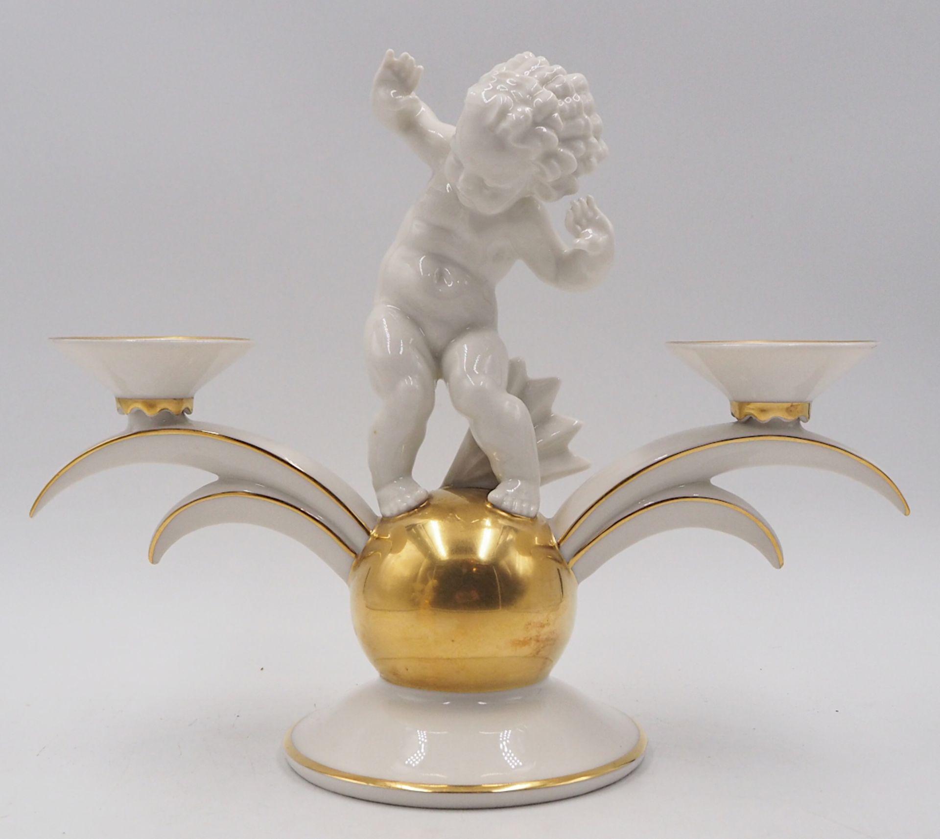 1 Pendant Kerzenleuchter Porzellan HUTSCHENREUTHER, z.T. US-Zone Designer: K. TUTTER, - Bild 4 aus 5