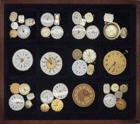 1 Konv. Taschenuhrenwerke in 4 Schatullen