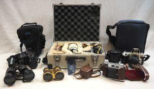 """1 Konv. Fotoapparate: NIKON """"F-401X"""" und """"F60"""", KODAK """"Retina I B"""", OLYMPUS """"IS-1000"""""""