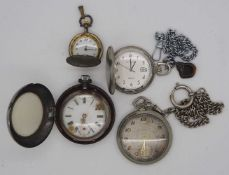 1 Konv. Taschenuhren Metall u.a. z.T. um 1900 TISSOT u.a.