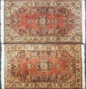 1 Konv. Brücken 20. Jh.: 1x beigegrundig mit floralem Dekor ca. 181x120cm sowie 1 Pen