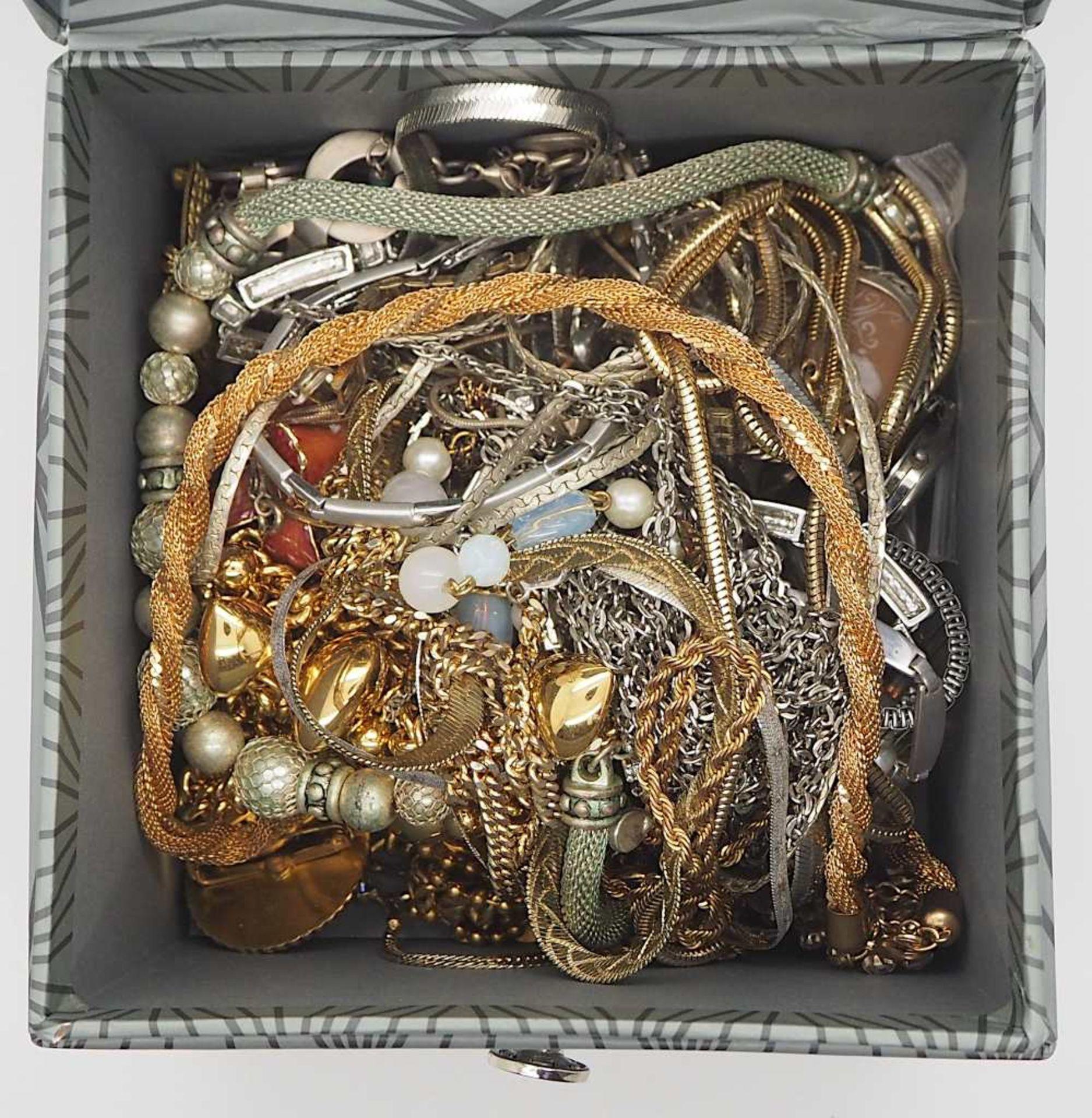 1 Konv. Schmuck/Armbanduhren u,.a., Mode u.a. in der Schatulle - Bild 3 aus 3