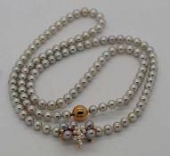 1 Kette auseinanderbaubar durch verschiedene Mittelteile z.B. Brosche gek. Juwelier HI