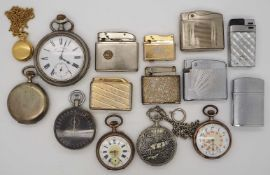 1 Konv. Armband-/Taschenuhren verschieden, z.T. Metall vergoldet, z.T. Silber Eisenbah