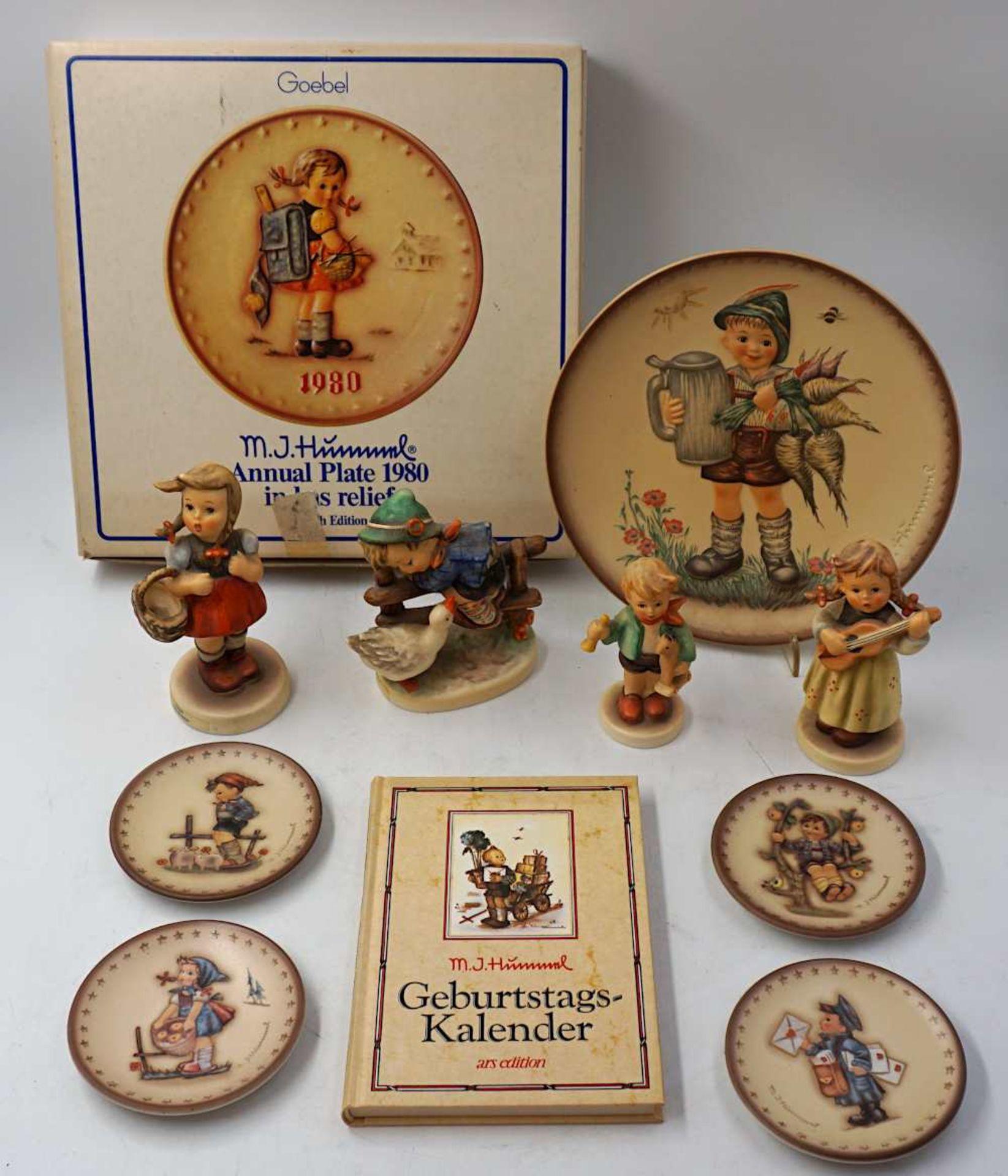 "1 Konv. Hummelfiguren GOEBEL nztl. Figuren ""Gretel"", ""Spitzbub"", ""Frühlingsidyll"", ""A"