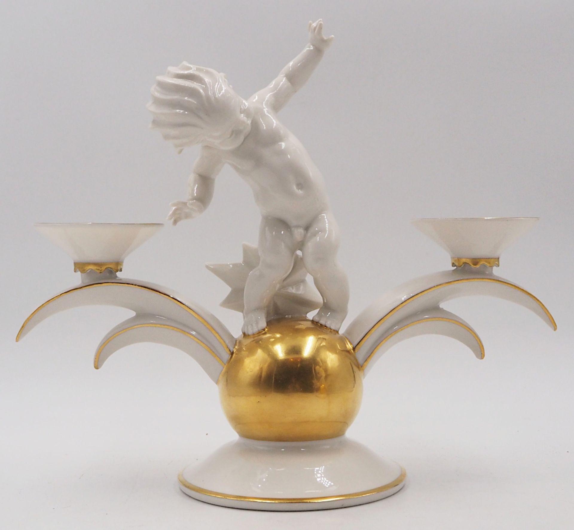 1 Pendant Kerzenleuchter Porzellan HUTSCHENREUTHER, z.T. US-Zone Designer: K. TUTTER, - Bild 3 aus 5