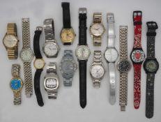 1 Konv. Armbanduhren Metall u.a. z.T. Lederband, SWATCH u.a., z.T. starke Tsp.