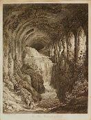 "1 Radierung ""In villa Mecenate a Tivoli"" L.u. bezeichnet/signiert ""Ce' Reinhart fec Romae 1793""<"