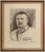"""1 Druckgraphik """"Portrait von Ernst RÖHM (Stabschef der Sturmabteilung)"""" (wohl 1887-19"""